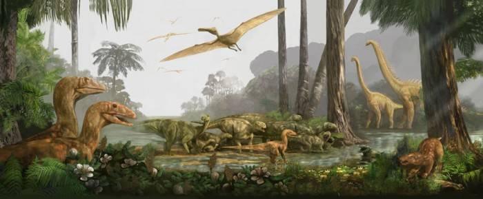 В какое время жили динозавры