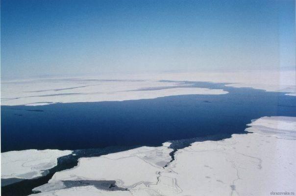 На севере россия омывается морями