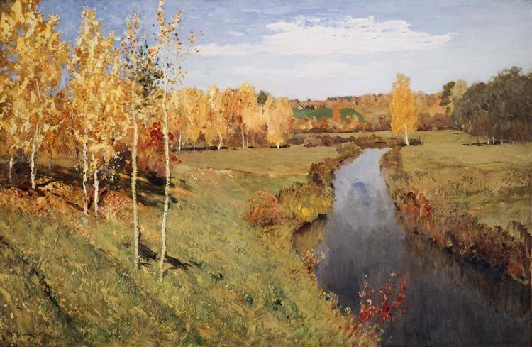 Пейзаж левитана золотая осень
