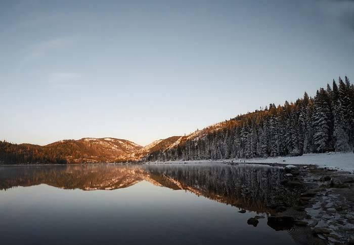 Зимнее утро описание природы