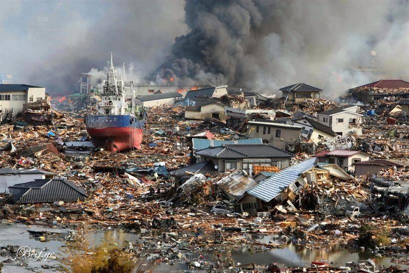 Тихий океан фото цунами