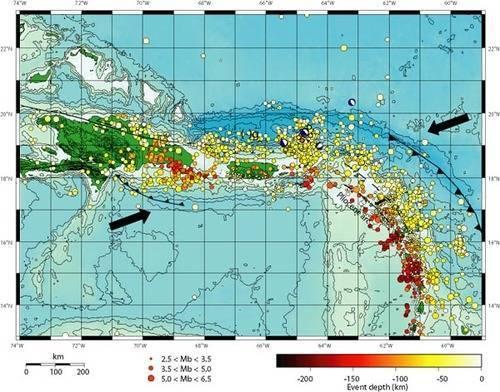Глубоководные желоба на карте мира