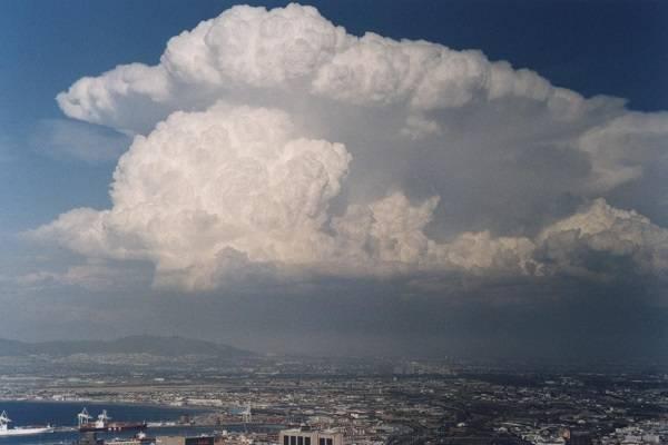 Внешний вид слоистых облаков