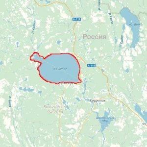 Карта озер россии подробная