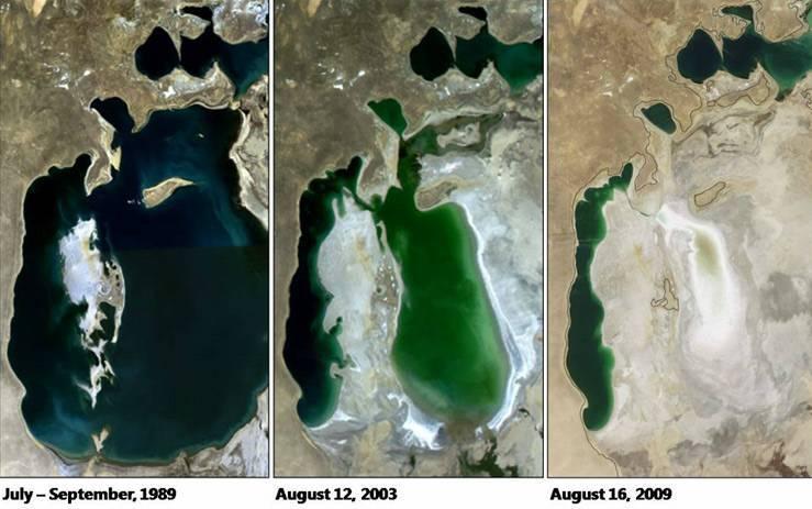 Причина исчезновения аральского моря