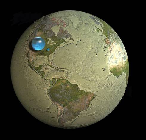 Объем воды на земле