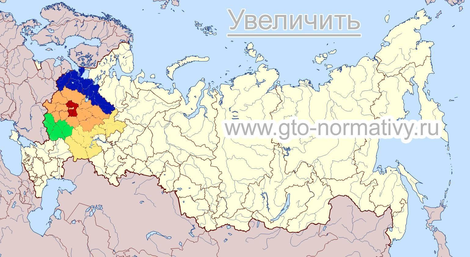 Области средней полосы россии