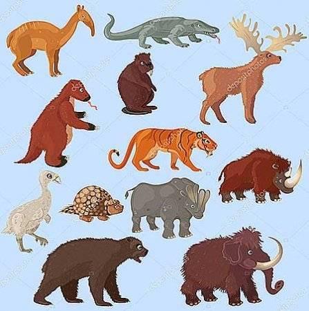Ледниковый период животные названия