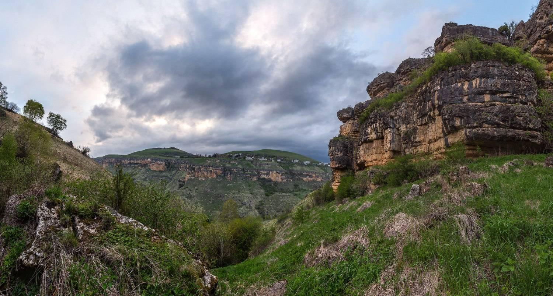 Вид с гор на степи