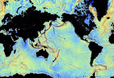 Карта дна мирового океана