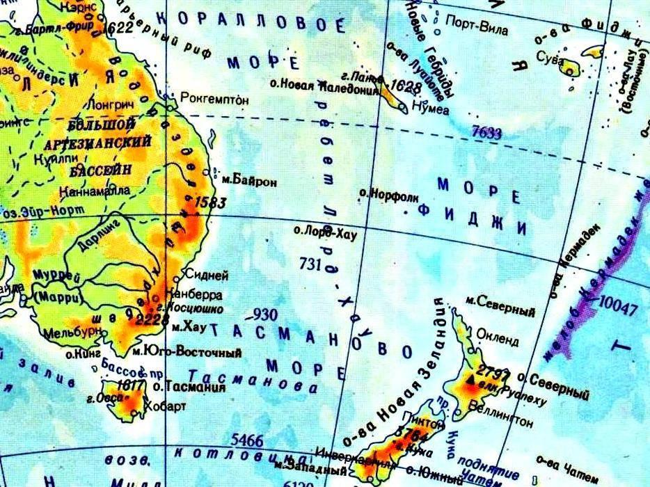 Острова и полуострова тихого океана