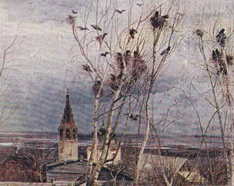 Картина саврасова грачи прилетели фото