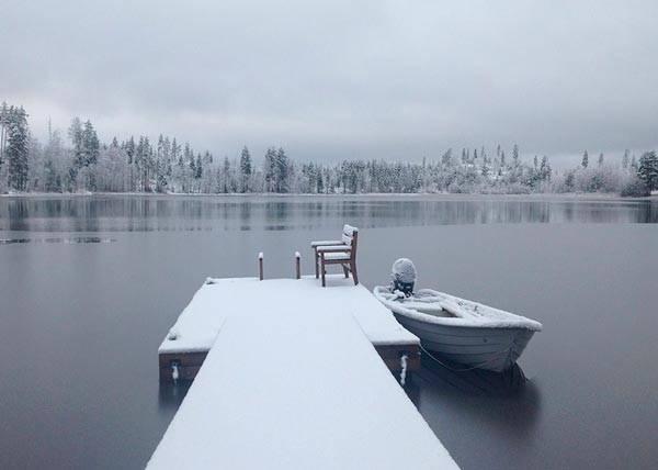 Текст описание первый снег