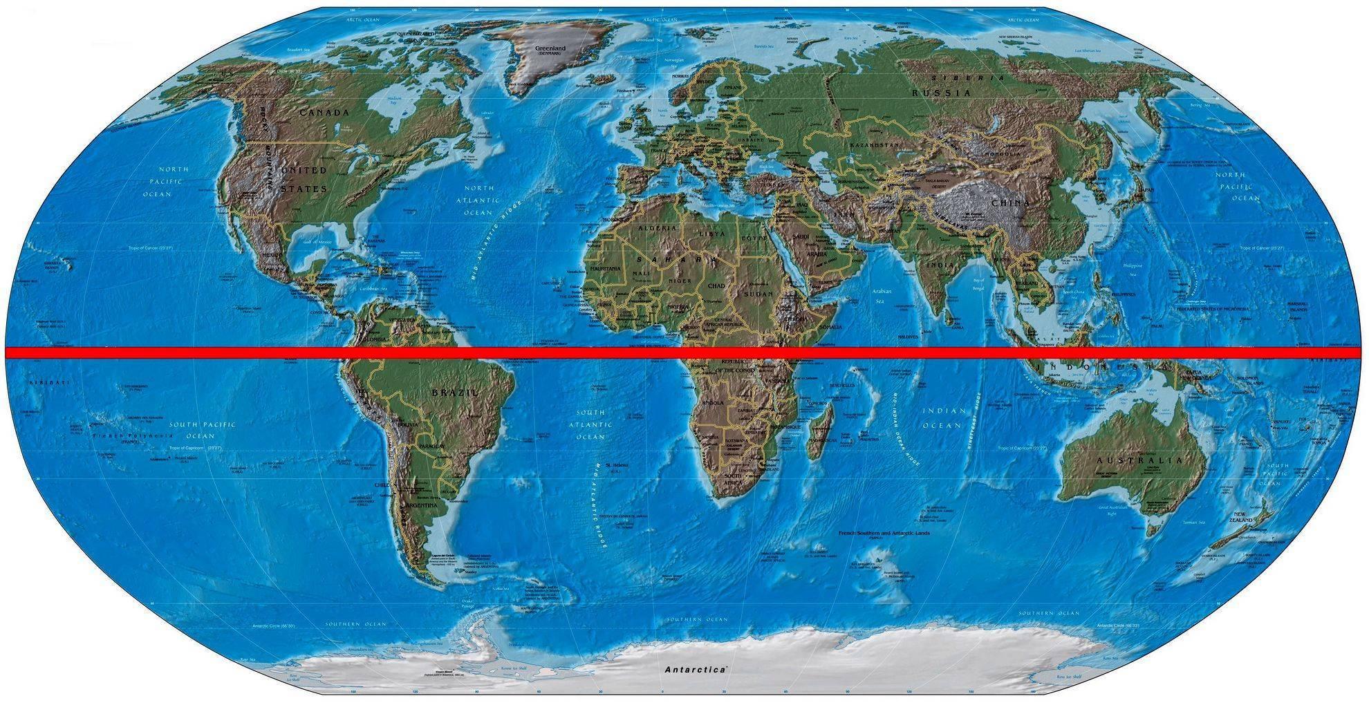 Через сколько стран проходит экватор