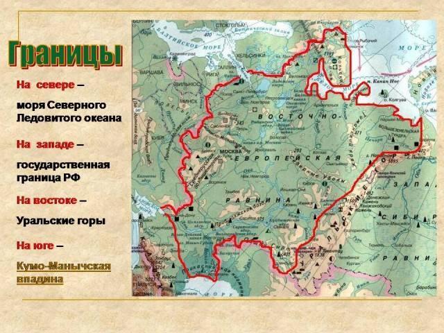Восточно европейская равнина на карте россии