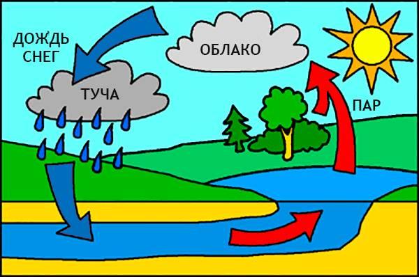 Как объяснить ребенку почему идет дождь