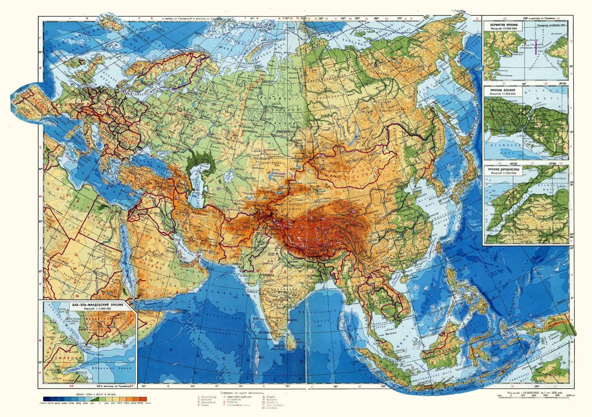 Физическая карта западно сибирской равнины
