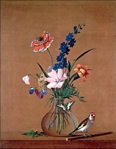 Букет цветов бабочка и птичка сочинение