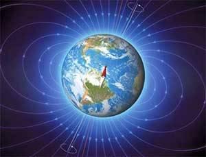 Северный магнитный полюс расположен