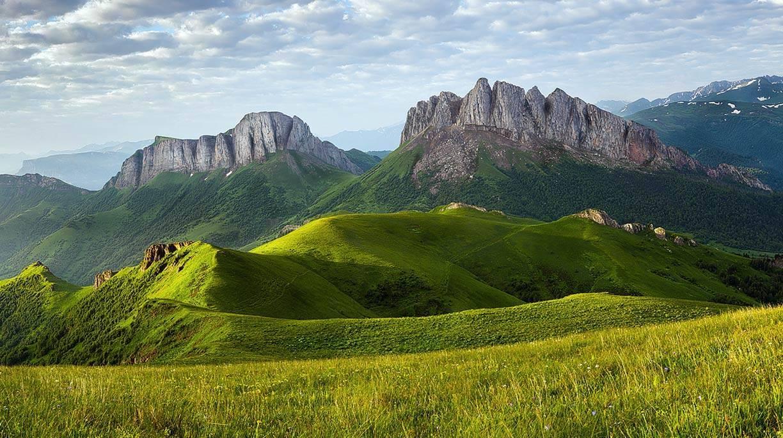 Высота кавказских гор в метрах
