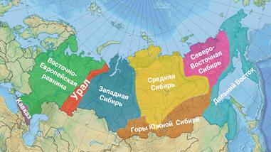 Характеристика рельефа россии