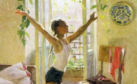 Сочинение по картине татьяны яблонской утро