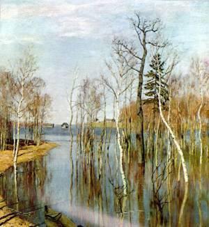 Левитан большая вода картина