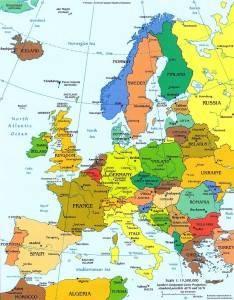 Границы государств центральной европы и их столицы
