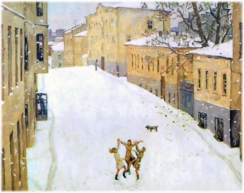Картина попова первый снег