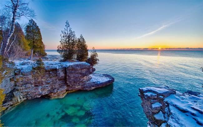 Самое большое озеро в северной америке