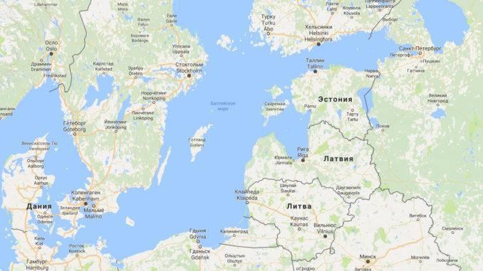 Водами балтийского моря омываются территории следующих стран