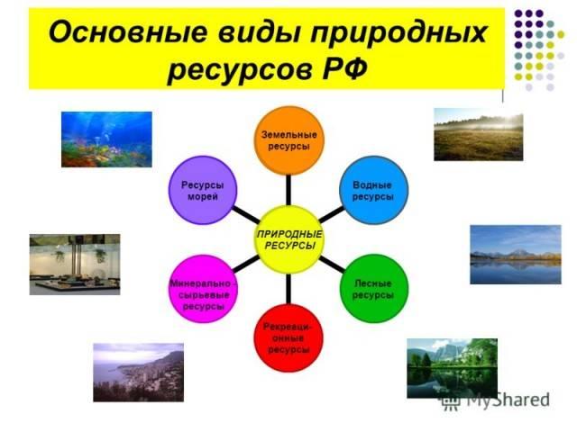 На какие виды делятся природные ресурсы