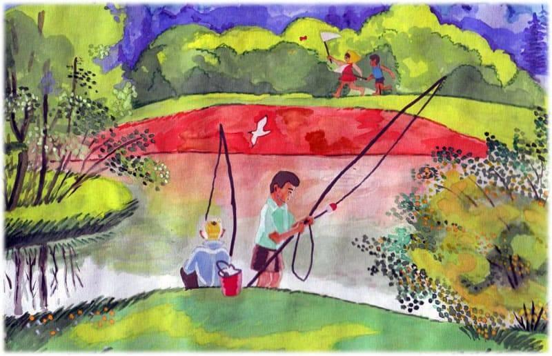 Сочинение на тему рыбалка