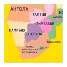 Политическая карта северной африки
