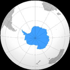 Название материков и океанов на карте полушарий