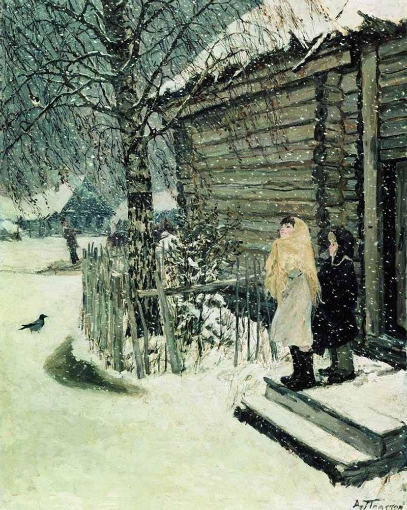 Картина пластова первый снег фото