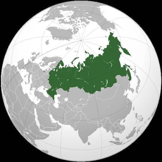Положение на карте россии