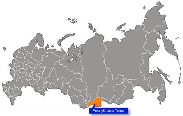 Карта сибирского региона