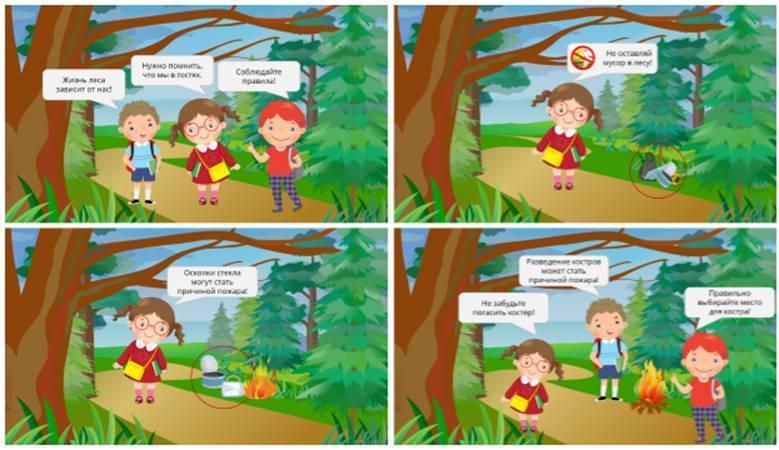 Сообщение лес и человек