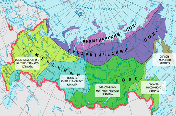 Характеристика климата умеренного пояса