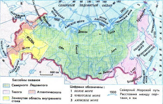 Океаны омывающие россию на карте