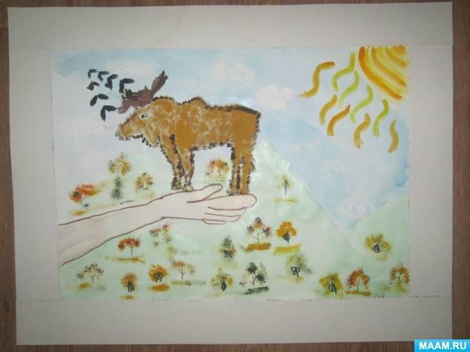 Рисунок на тему природа глазами детей