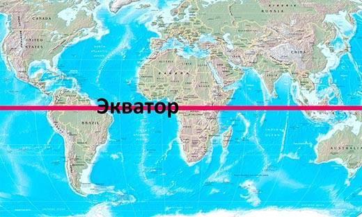 Длина экватора составляет примерно