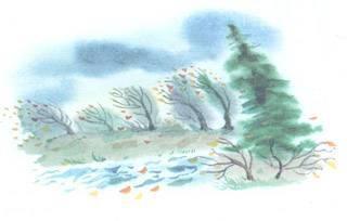 Лес поздней осенью сочинение