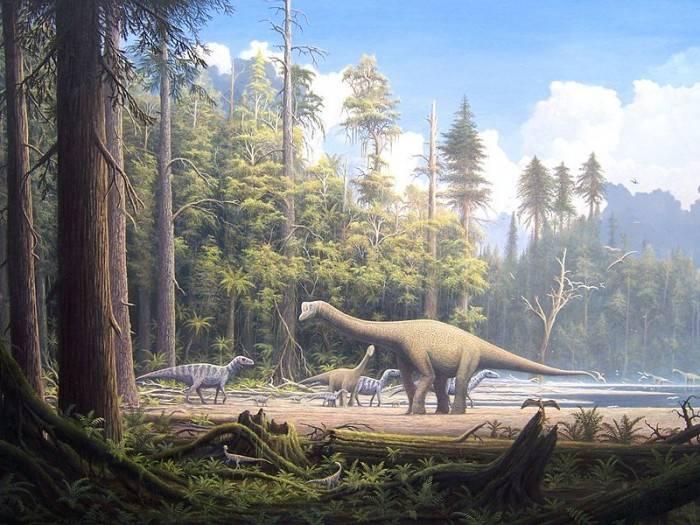 Динозавры мезозойской эры
