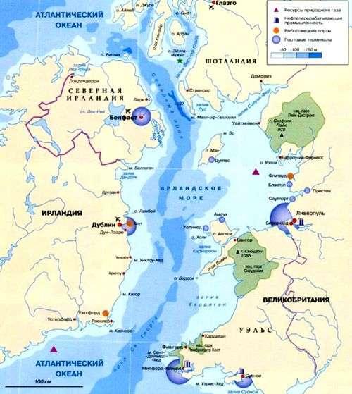 Где находится ирландское море