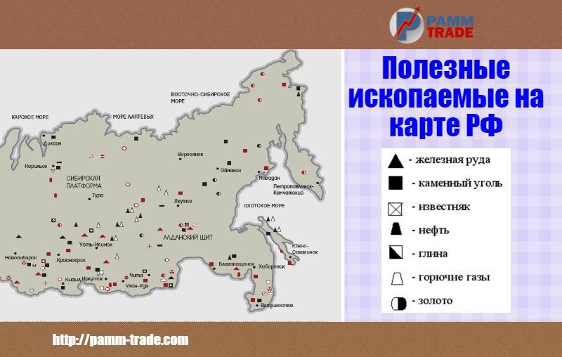 Каких полезных ископаемых нет в россии
