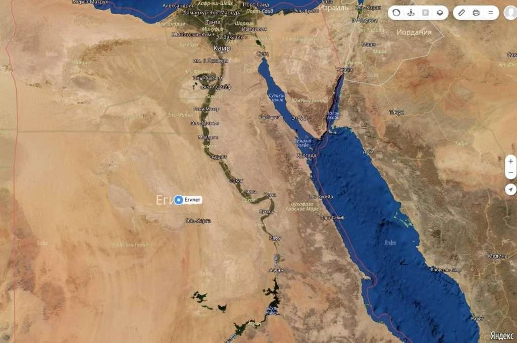 Де знаходиться єгипет