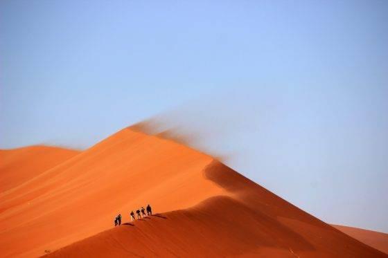 Процесс образования дюн