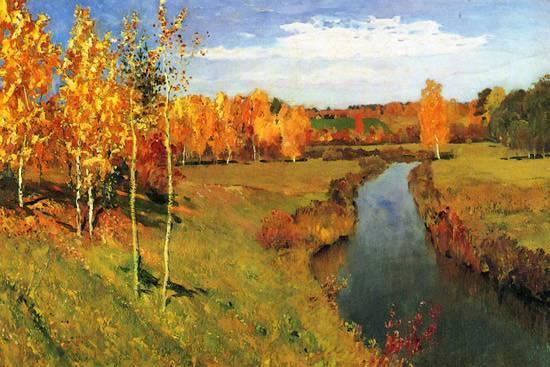 Сочинение на тему золотая осень левитан